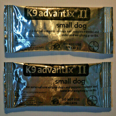 K9 Advantix II for Small Dogs 4-10, 4to10 lbs. Two Month, 2 Doses, 2 Pack
