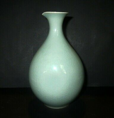 Old Asian GREEN CELADON PORCELAIN - Ink WATER DROPPER - Chinese Japanese SIGNED