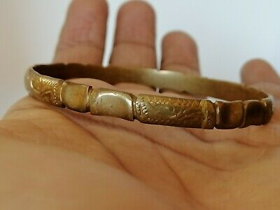 Rare Extremely Ancient Bracelet Viking Bronze Artifact Beautiful Authentic