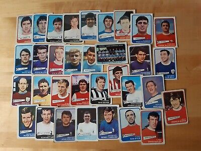 A&Bc Yellow Back Football Cards - 1968