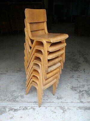 Vintage Plywood Stacking Chairs - Cafe Bar Restaurant - 80 Available