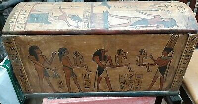 Ancient Egyptian Very Large Wooden Box Protection Egypt Wood