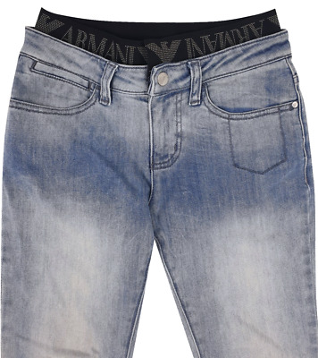 NEW Emporio Armani Junior RRP£159 Designer AGE10YEARS Kids Boys Jeans Pants A716