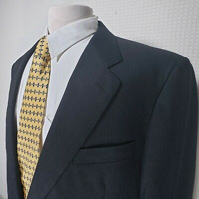 Canali Italy Mens 42 Long Gray Pinstriped 2 Button Dual Vented Sport Coat 120s