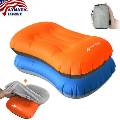 Inflatable Portable Camping Pillow Cover Set Ultralight Cushion Travel Hiking US