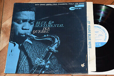Ike Quebec Blue And Sentimental NY Stereo Note RVG Grant Green Paul Chambers