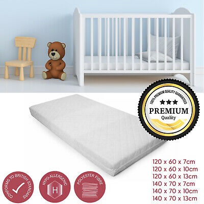 Cotbed Mattress Junior Toddler Ultra Fibre Eco-Friendly Baby / Toddler All Sizes