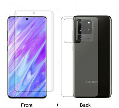 For Samsung Galaxy S20 Ultra Plus 5G Front+Back Screen Protector Hydrogel Film