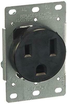 Leviton 5374-S00 50 Amp, 250 Volt, Flush Mounting Receptacle, Straight Blade,