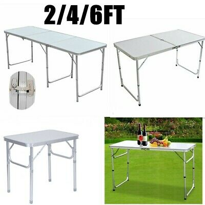 2Ft 4Ft & 6Ft Camping Catering Heavy Duty Folding Table Trestle Picnic Bbq Party