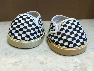 Build A Bear checkerboard sneakers slip on shoes