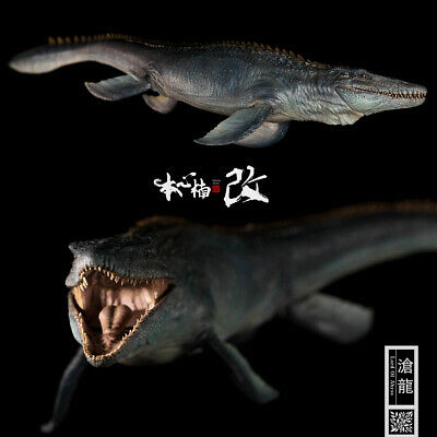 Nanmu 1/35 Mosasaurus Figure Lord of Abyss Dinosaur Collector Animal Toys Gift