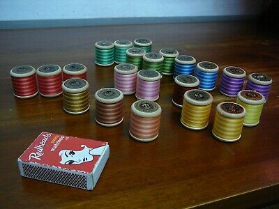 22 X Vintage Anchor Machine Embroidery Cotton Spools 100 Yards Free Post