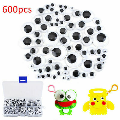 210 GOOGLY EYES//WIGGLY WOBBLY EYES BLACK /&WHITE-THREE SIZES 7//10//15mm-CRAFT