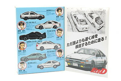 【UNUSED】TOMICA 1:43 1/43 INITIAL D SET AE86 FC3S R32 CN9A S13 AE85 from Japan