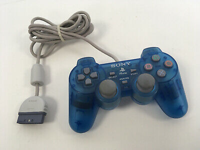 Sony Playstation 1 Dualshock PS one SCPH-110 PSone PSX PS1 Controller BLUE CLEAR