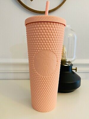 Starbucks Spring Collection 2020 Matte Pink Studded Tumbler NEW