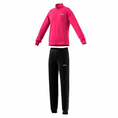 adidas Linear Essential Girls Polyester Tracksuit Set Pink/Black - 4-5 Years