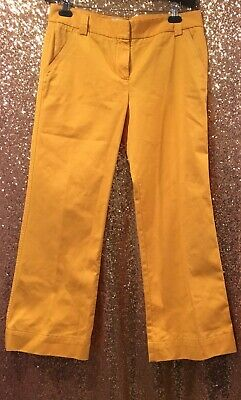 J Crew Women's Chino In Classic Twill Mustard Yellow, SIZE 8, Condition Is New