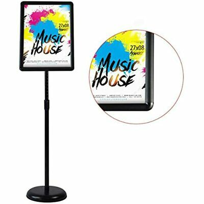 Adjustable Sign Holder Standing Floor For 8.5x11 Inches, Both Vertical &amp View