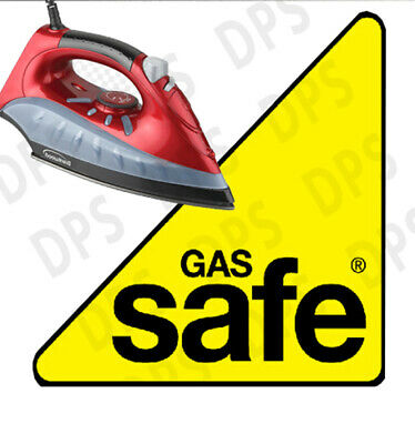 Gas Safe logo- iron on / Heat Press Transfer *** Easy to apply ***