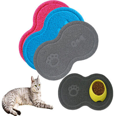 Pet Dog Puppy Cat Feeding Mat Pad Cute PVC Bed Dish Bowl Food Feed Placemat
