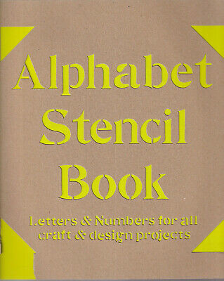 Alphabet Stencil Book Letters /& Numbers for all Craft /& Design Projects