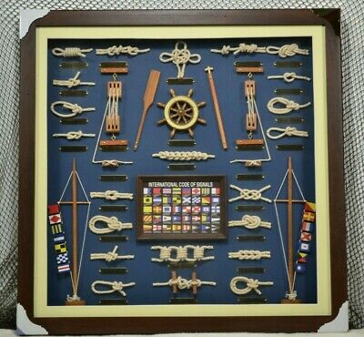 Large Nautical Knot Board with Flags