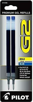 PILOT G2 Gel Ink Refills For Rolling Ball Pens, Bold Point, Blue Ink, 2-Pack