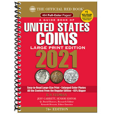 PRE-SALE 2021 Red Book Price Guide, 74th Edition, Large Print