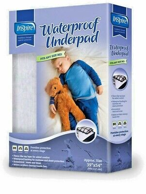 """Inspire Waterproof Underpad 39 X 54 Fits Any Bed """"1 Single Package"""" Nib"""