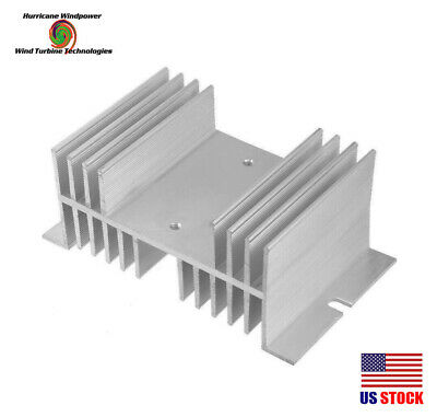 100 Amp Solid State Relay for Solar Charge Controller New Heat Sink w//Din Rail