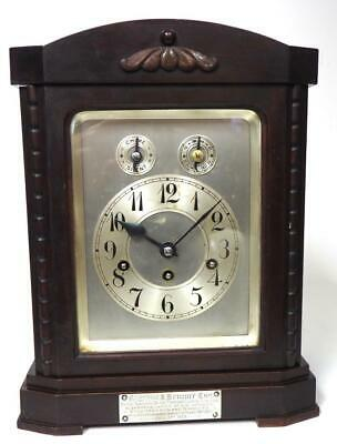 Antique Musical Bracket Clock Westminster Chime Junghans 8 Day Mantel Clock