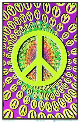 PEACE OP - FLOCKED BLACKLIGHT -  Poster 23 in X 35 in - POSTER