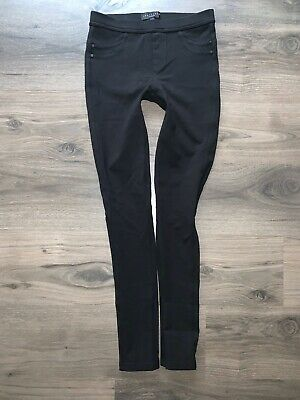 Sanctuary Grease Leggings Pull-On Ponte Skinny Pants Black Stretch Size XS