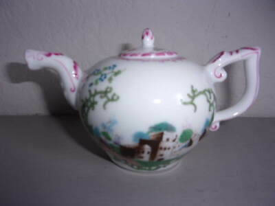 Beautiful Victoria And Albert Museum Hochst Fine Porcelain Miniature Teapot