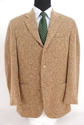 Polo Ralph Lauren PRL Italy 3Roll2 Patch Pocket Soft Tweed Tan Sport Coat 42L