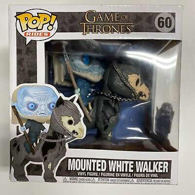 Funko Pop Rides Game of Thrones Mounted White Walker Figure New Damaged Box