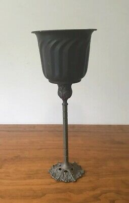 Vintage Brass Plant Pot With Stand Ornate