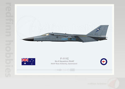 Warhead Illustrated F-111C 6 Sqn RAAF  A8-131 Aircraft Print
