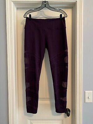 Victoria's Secret SPORT Women's Large KNOCKOUT Tight Leggings Purple SHEER