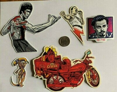 Tyler Stout Stickers Bruce Lee & More Set Of 5 Misc Stickers Rare Excl Set A