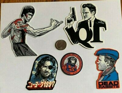 Tyler Stout Stickers Bruce Lee & More Set Of 5 Misc Stickers Rare Excl Set D
