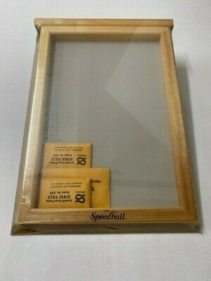 "Speedball Silk Screen frame & base kit # 4505 10""X14"""""