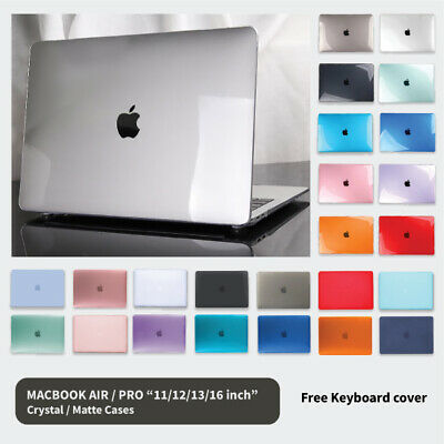 """MacBook Hard Case + Keyboard Cover For Apple Air 11"""" 13"""" 12"""" Pro 13"""" 16"""" inch"""