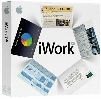 Brand New Sealed Apple iWork 08 2008 CD Pages, Numbers, Keynote For Vintage Macs