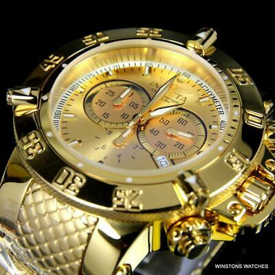 Invicta Subaqua Noma III Swiss Mvt Chronograph High Polished Gold Plated New