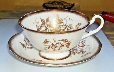 Vintage Paragon Teacup and Saucer Golden Glory  By Appointment to the Queen