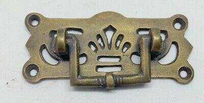4 DECO cabinet handles solid brass furniture vintage age old look style 95 mm