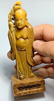 EXTREMELY RARE China Chinese Jade Carved Ritual Standing Figural age Unknown